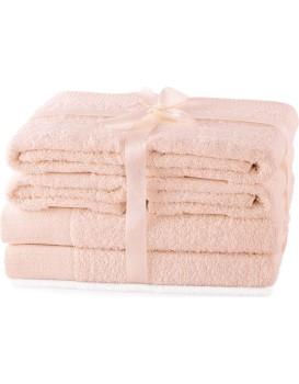 Súprava uterákov AmeliaHome Amary ružová