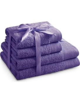 Súprava bavlnených uterákov AmeliaHome AMARI fialová