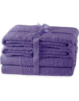 Súprava uterákov AmeliaHome Amary fialová