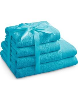 Sada bavlněných ručníků AmeliaHome AMARI tyrkysová