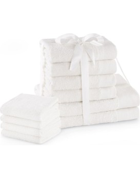 Sada bavlněných ručníků AmeliaHome AMARI 2+4+4 ks bílá