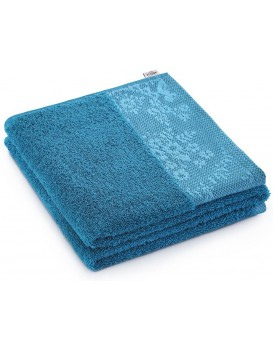 Bavlněný ručník AmeliaHome Crea 70 x 140 modrý/mořský