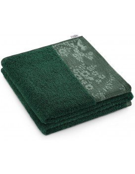 Bavlněný ručník AmeliaHome Crea tmavě zelený