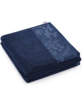 Bavlnený uterák AmeliaHome Crea tmavomodrý