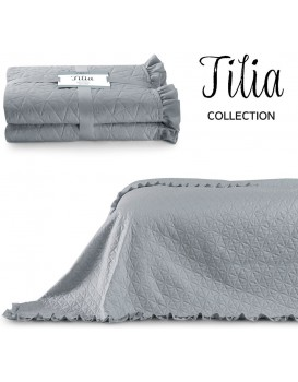 Přehoz na postel AmeliaHome Tilia šedý
