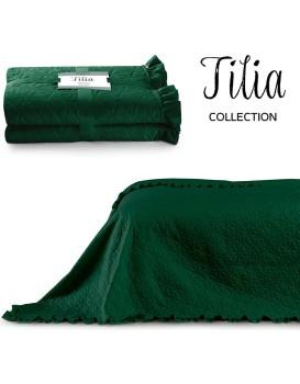 Přehoz na postel AmeliaHome Tilia láhvově zelený