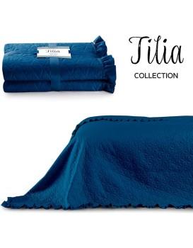 Přehoz na postel AmeliaHome Tilia modrý