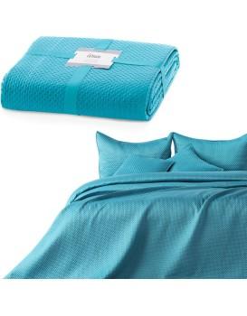 Přehoz na postel Carmen tyrkysový