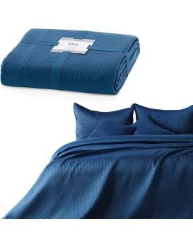 Přehoz na postel Carmen tmavě modrý