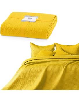 Prikrývka na posteľ Carmen horčicová