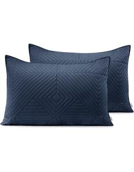 Povlaky na polštáře AmeliaHome Softa I tmavě modré/medové