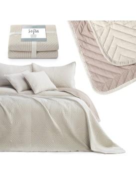 Přehoz na postel AmeliaHome Softa béžový/cappuccino