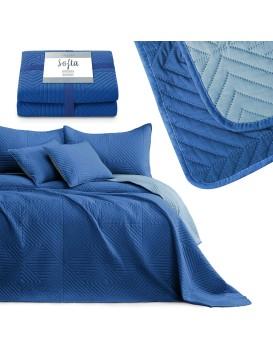 Oboustranný přehoz na postel Sofia modrý