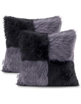 Povlaky na polštáře AmeliaHome Nancy černé/šedé