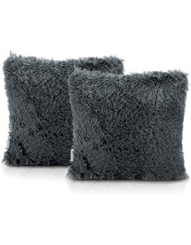 Povlaky na polštáře AmeliaHome Karvag tmavě šedé