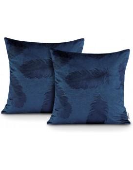 Sada dvou povlaků na polštář AmeliaHome Velvet Peacock modrá