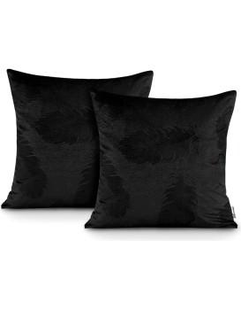 Sada dvou povlaků na polštář AmeliaHome Velvet Peacock černá