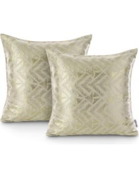 Sada dvou povlaků na polštář AmeliaHome Glamour Navia krémová
