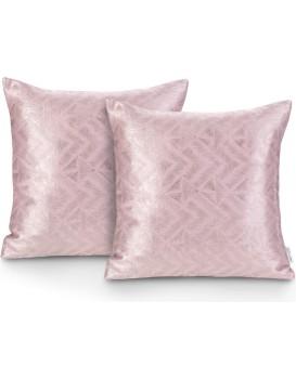 Sada dvou povlaků na polštář AmeliaHome Glamour Navia pudrově růžová