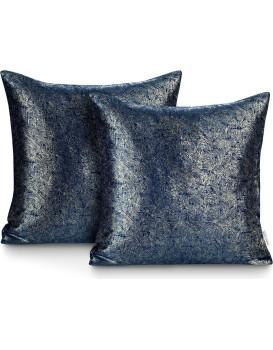 Sada dvou povlaků na polštář AmeliaHome Glamour Veras tmavě modrá