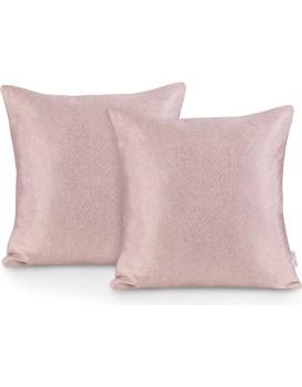 Sada dvou povlaků na polštář AmeliaHome Blackout Lamari pudrově růžová