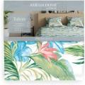 Bavlnená posteľná bielizeň Avari Flora zelená