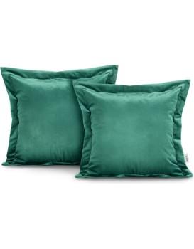 Povlaky na polštáře AmeliaHome Velvet Side tmavě zelené