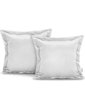 Povlaky na polštáře AmeliaHome Velvet Side bílé