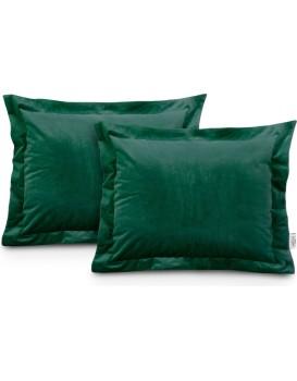 Povlaky na polštáře AmeliaHome Velvet Side Si tmavě zelené