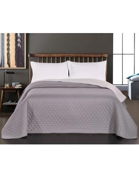 Oboustranný přehoz přes postel DecoKing Chiny šedo-stříbrný