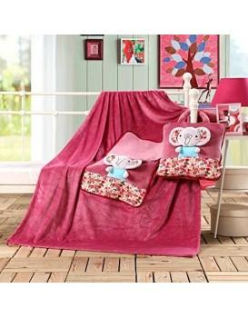 Dětská deka z mikrovlákna DecoKing Elephant růžová