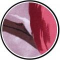 3D posteľná bielizeň z mikrovlákna DecoKing Sirri červená