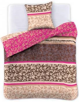 Povlečení z bavlny DecoKing Oriela hnědo-růžové