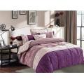 Bavlnená posteľná bielizeň DecoKing Jerdia fialová