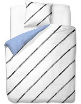 Povlečení z mikrovlákna DecoKing Cilisy bílo-modré