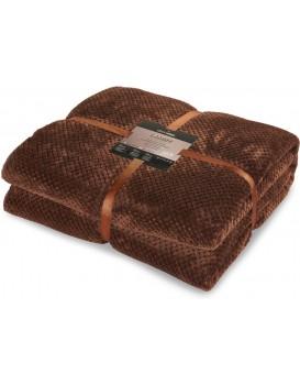 Obojstranná deka z mikrovlákna DecoKing Lamby hnedá