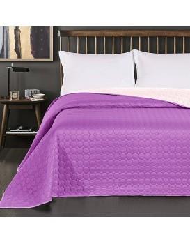 Oboustranný přehoz na postel DecoKing Salice fialový/krémový