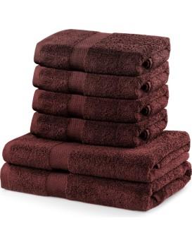 Súprava hnedých uterákov DecoKing MARINA