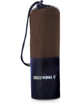 Sportovní ručník z mikrovlákna DecoKing Ekea hnědý