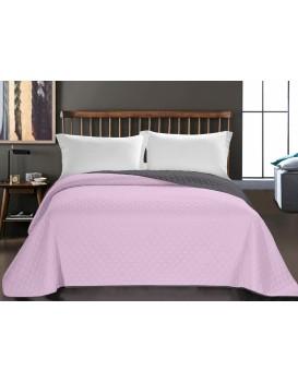 Obojstranný prehoz na posteľ DecoKing Axel ružový/uhľový