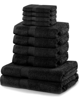 Súprava uterákov DecoKing Kunis čierna