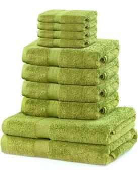 Súprava uterákov DecoKing Kunis svetlozelená