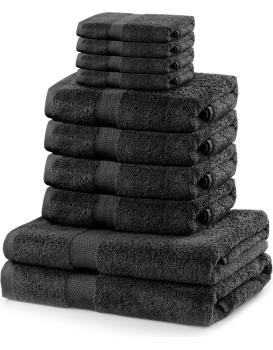 Súprava uterákov DecoKing Kunis tmavosivá