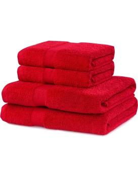 Set červených ručníků DecoKing Niki