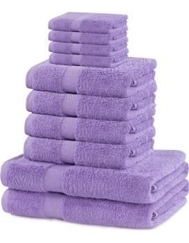 Súprava uterákov DecoKing Kunis fialová