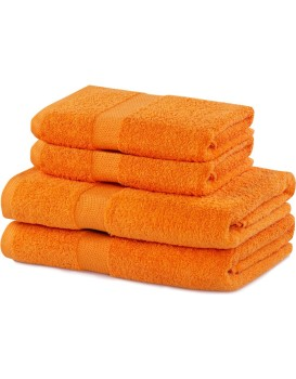 Súprava oranžových uterákov DecoKing Niki