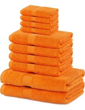 Súprava uterákov DecoKing Kunis oranžová