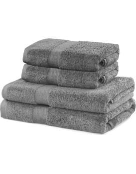 Súprava sivých uterákov DecoKing Niki