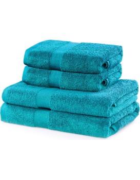 Súprava tyrkysových uterákov DecoKing Niki