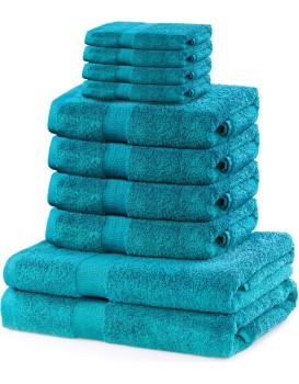 Súprava uterákov DecoKing Kunis tyrkysová